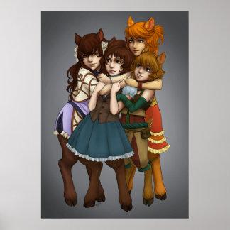 4-Way Hug Poster