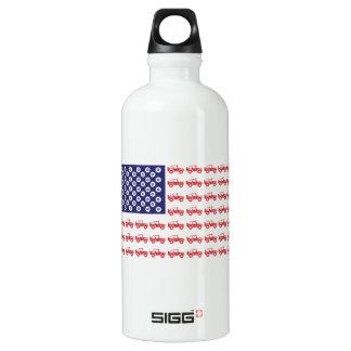4-Wheel-Flag-Final Water Bottle