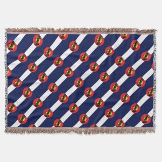 4-Wheeler-in-CO-Flag-2 Throw Blanket