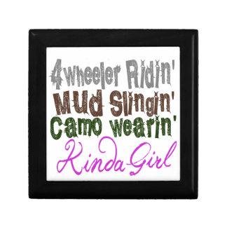 4 wheeler ridin mud slingin camo wearin kinda girl small square gift box