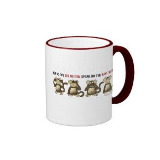 4 Wise Monkeys Coffee Mug