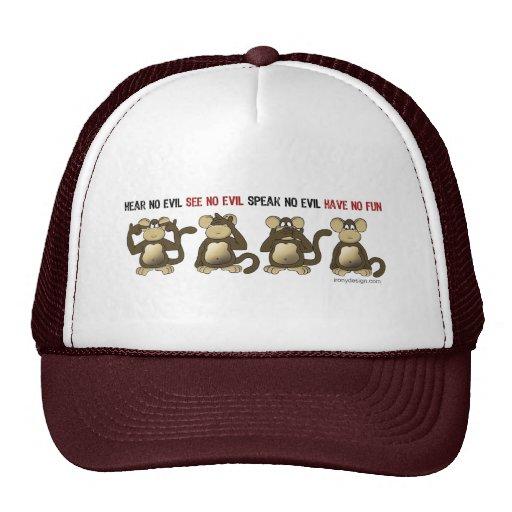 4 Wise Monkeys Trucker Hat