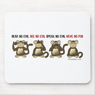 4 Wise Monkeys Mousepads