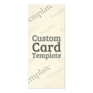 "4"" x 9.25"" Felt Cream Invitation Custom Template"