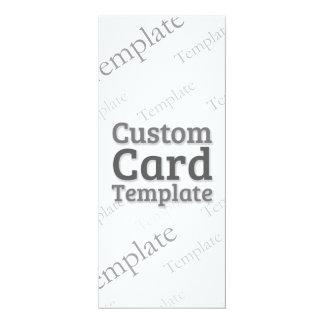 "4"" x 9.25"" Invitation Custom Template"