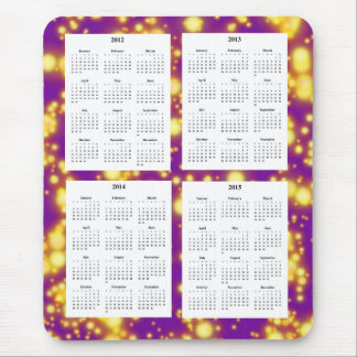 4 Year calendar (2012-2015) Mouse Pad