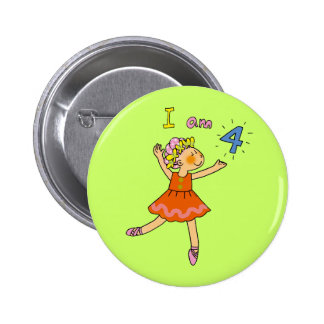 4 year old ballerina pinback buttons