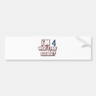 4 year old birthday designs bumper sticker
