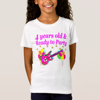 4 YEAR OLD ROCK STAR BIRTHDAY PARTY T-Shirt