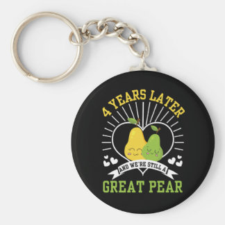 4 Years Later Were Still Great Pear Shirt Key Ring