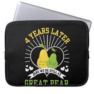 4 Years Later Were Still Great Pear Shirt Laptop Sleeve
