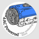 4AC Powered (The Underdog Story) Round Sticker