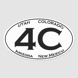 4C - Four Corners USA Oval Logo Oval Sticker