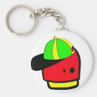 4ever alien basic round button key ring