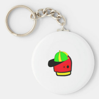 4ever alien basic round button key ring
