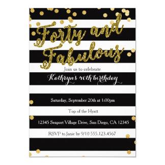 4o and Fabulous Adult Birthday Invitation
