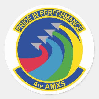 4th Aircraft Maintenance Squadron Classic Round Sticker
