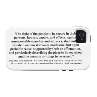 4th Amendment of the United States Constitution iPhone 4 Cover