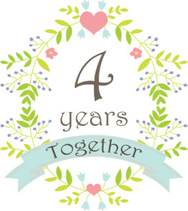 Happy 4th Wedding Anniversary Wedding Anniversary Gifts Zazzlecomau