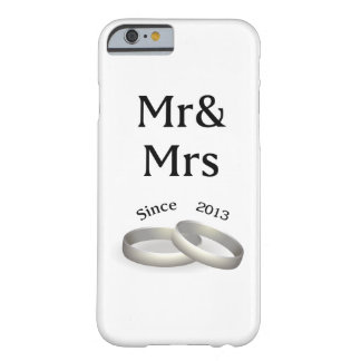 4th anniversary matching Mr. And Mrs. Since 2013 Barely There iPhone 6 Case