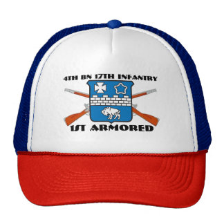 4TH BATTALION 17TH INFANTRY 1ST ARMORED HAT