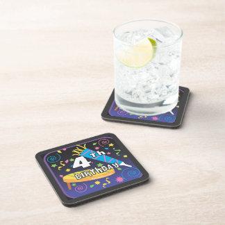 4th Birthday Beverage Coaster