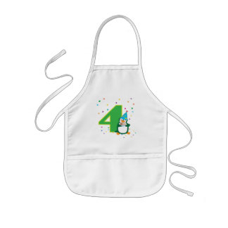4th Birthday Penguin Apron