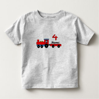 4th Birthday Personalized Train T-Shirt