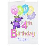 4th Birthday Princess Bear, Custom Name
