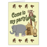 4th Birthday Safari Greeting Card