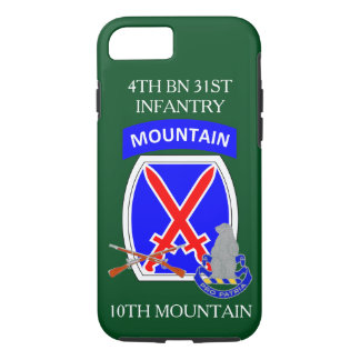 4TH BN 31ST INFANTRY 10TH MOUNTAIN iPHONE CASE