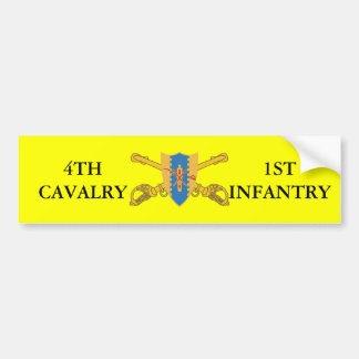 4TH CAVALRY 1ST INFANTRY BUMPER STICKER