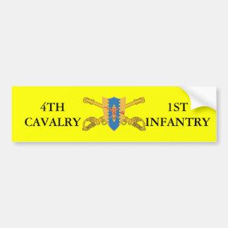 4TH CAVALRY 1ST INFANTRY BUMPER STICKER CAR BUMPER STICKER