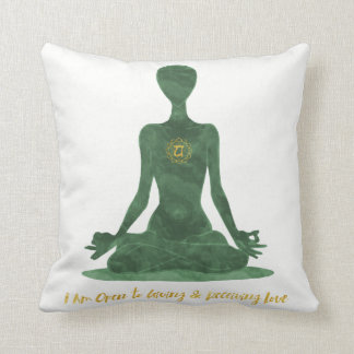 4th Chakra Heart Anahata Green Affirmation Cushion