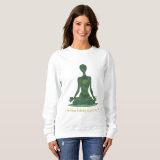 4th Chakra Heart Anahata Green Affirmation Sweatshirt