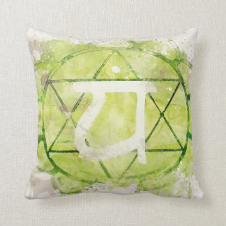 4th Chakra Heart Anahata Green Cushion