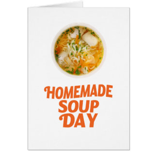 4th February - Homemade Soup Day Card