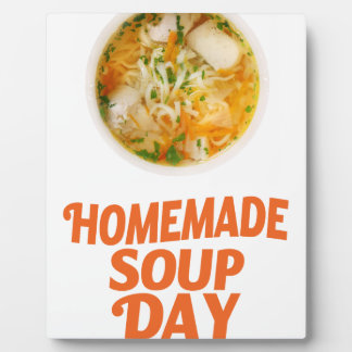 4th February - Homemade Soup Day Plaque