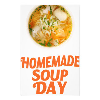 4th February - Homemade Soup Day Stationery