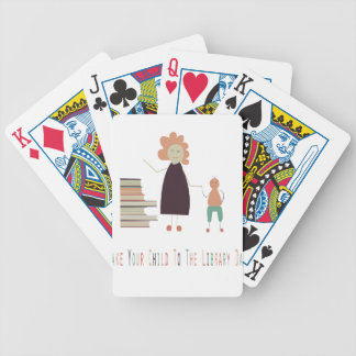4th February - Take Your Child To The Library Day Bicycle Playing Cards
