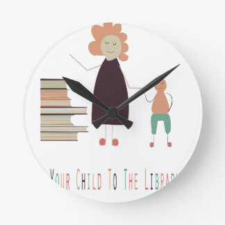 4th February - Take Your Child To The Library Day Round Clock