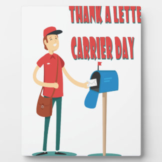 4th February - Thank A Letter Carrier Day Display Plaque