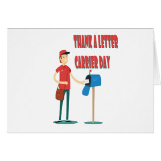 4th February - Thank A Letter Carrier Day Greeting Card