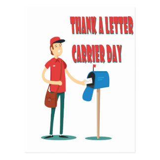 4th February - Thank A Letter Carrier Day Postcard