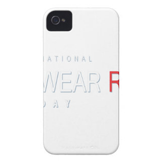 4th February - Wear Red Day - Appreciation Day iPhone 4 Covers