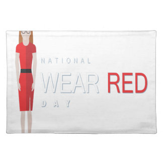 4th February - Wear Red Day - Appreciation Day Placemat