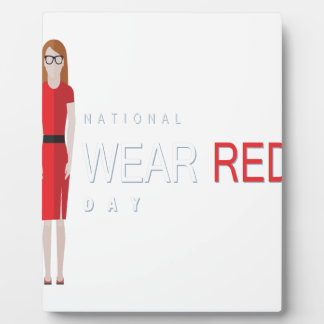 4th February - Wear Red Day - Appreciation Day Plaque