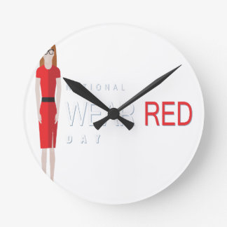 4th February - Wear Red Day - Appreciation Day Round Clock