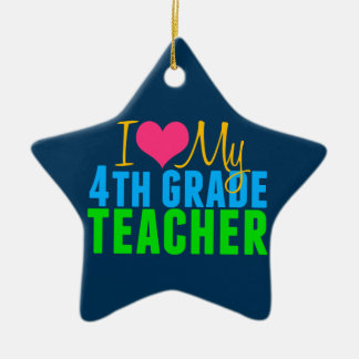 4th Grade Teacher Ceramic Ornament