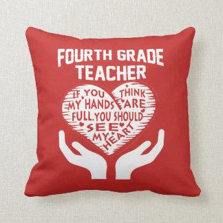 4th Grade Teacher Cushion